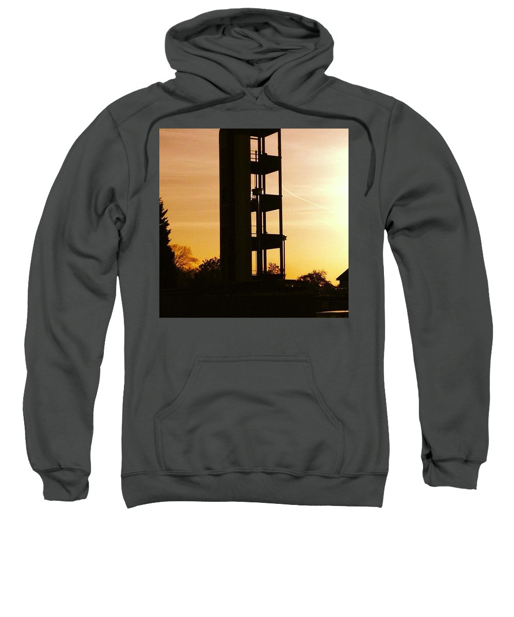 Sunsets Sweatshirt featuring the photograph Sunset Tower by Steve Swindells