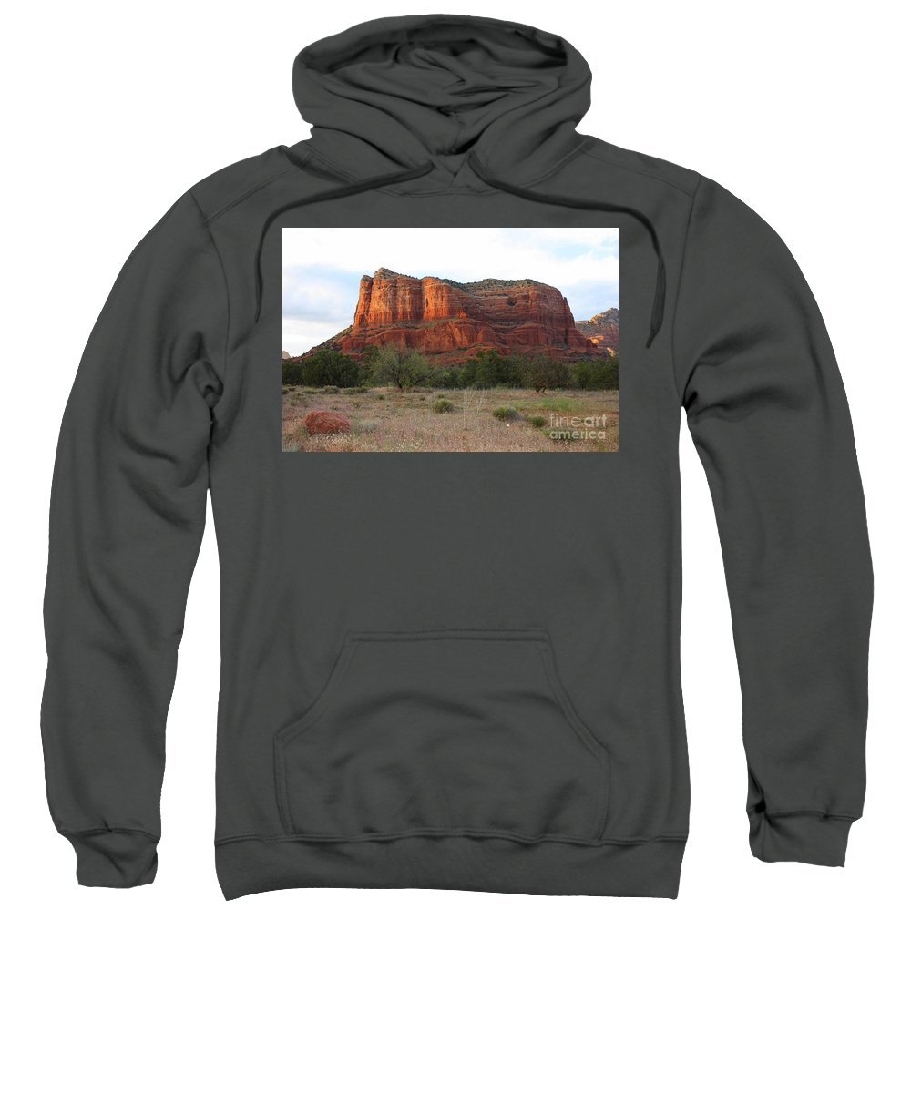 Sweatshirt featuring the photograph Sunshine On Courthouse Butte by Carol Groenen