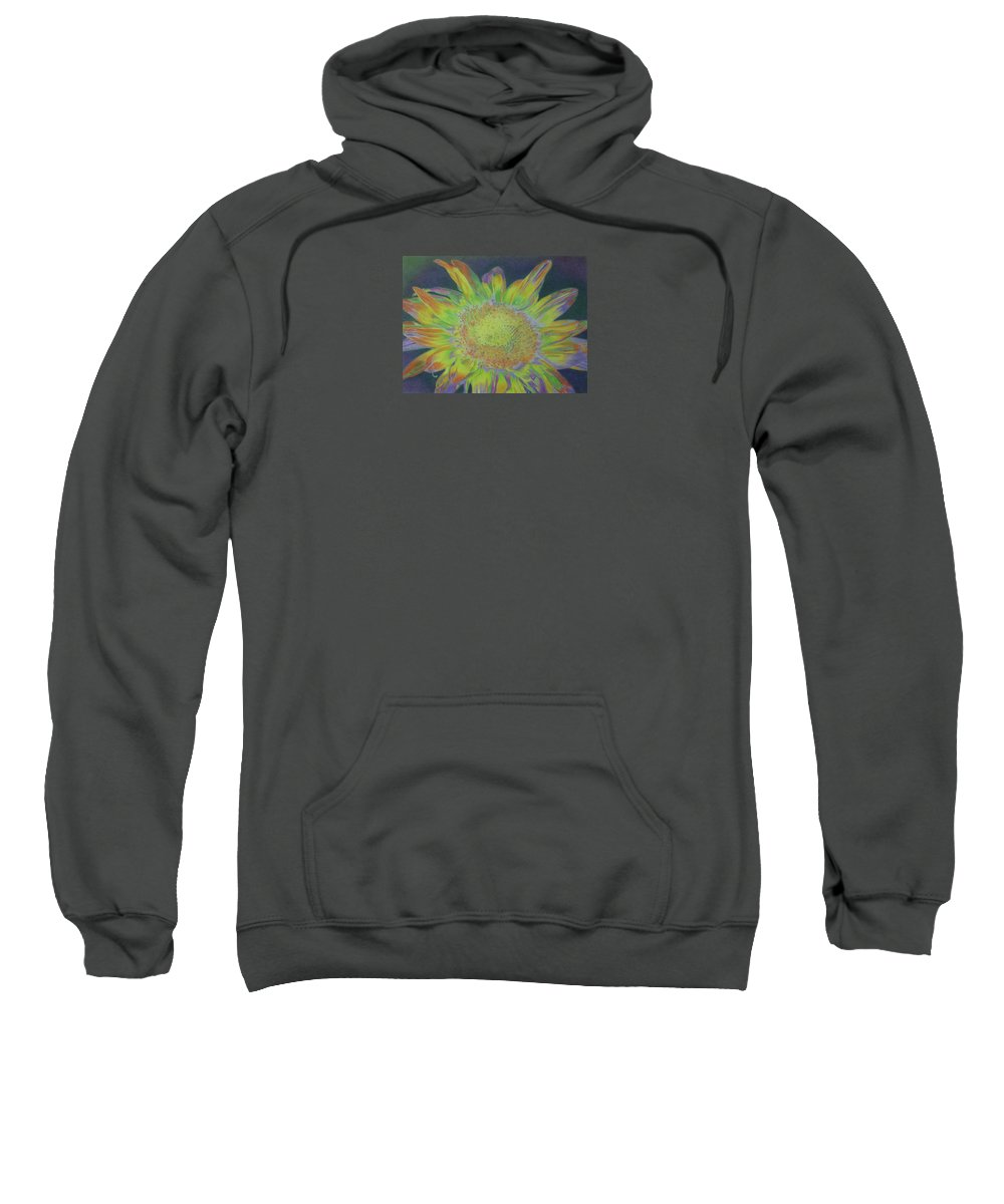 Sunflowers Sweatshirt featuring the pastel Sunverve by Cris Fulton