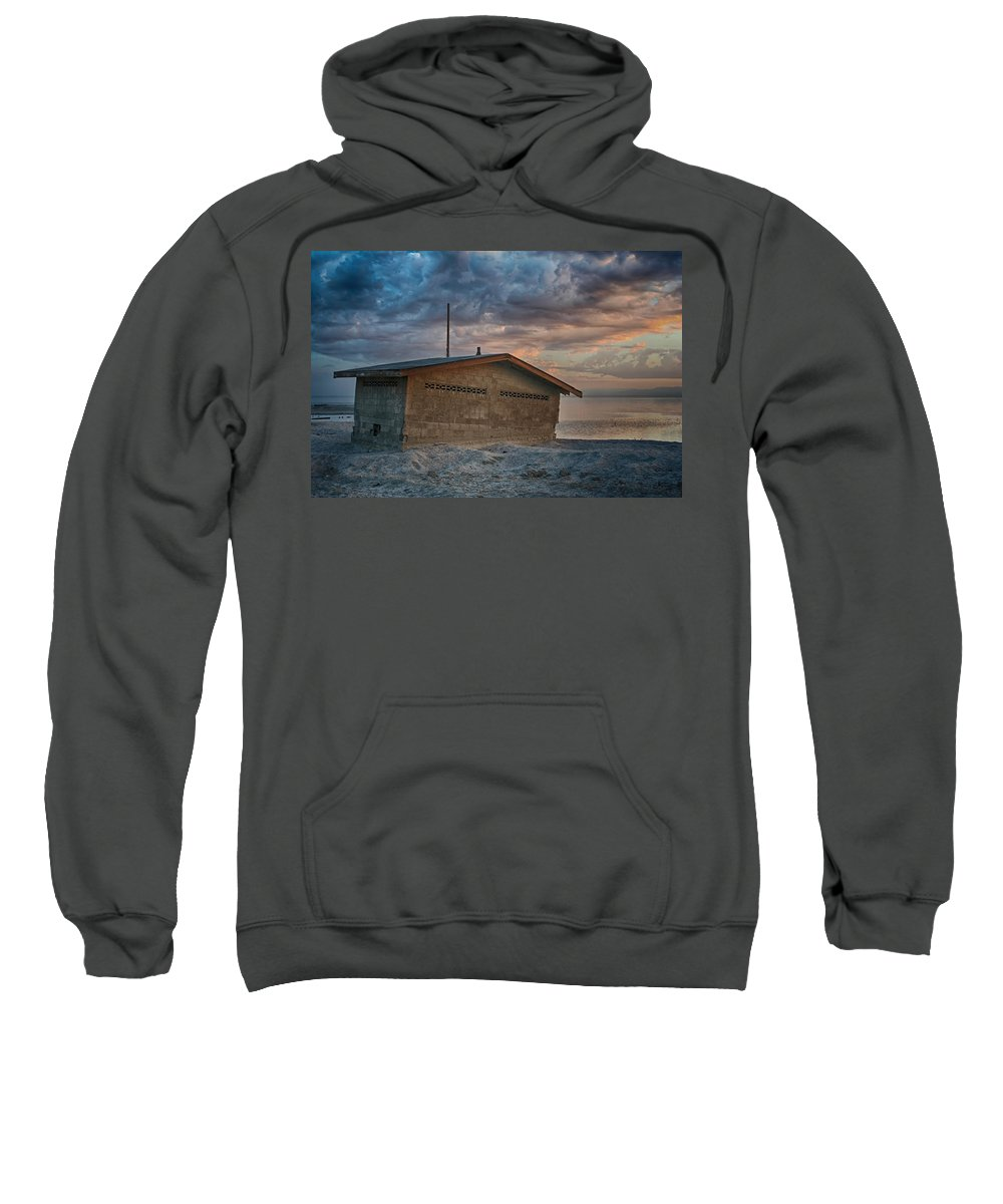 Salton Sea Sweatshirt featuring the photograph Surrender by Laurie Search
