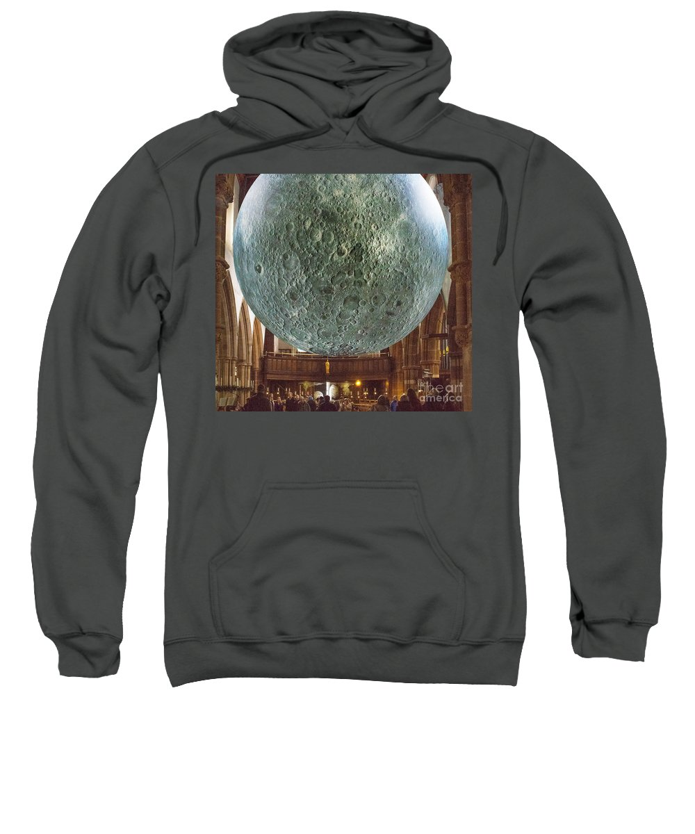 Moon Sweatshirt featuring the photograph Suspension by Nick Eagles