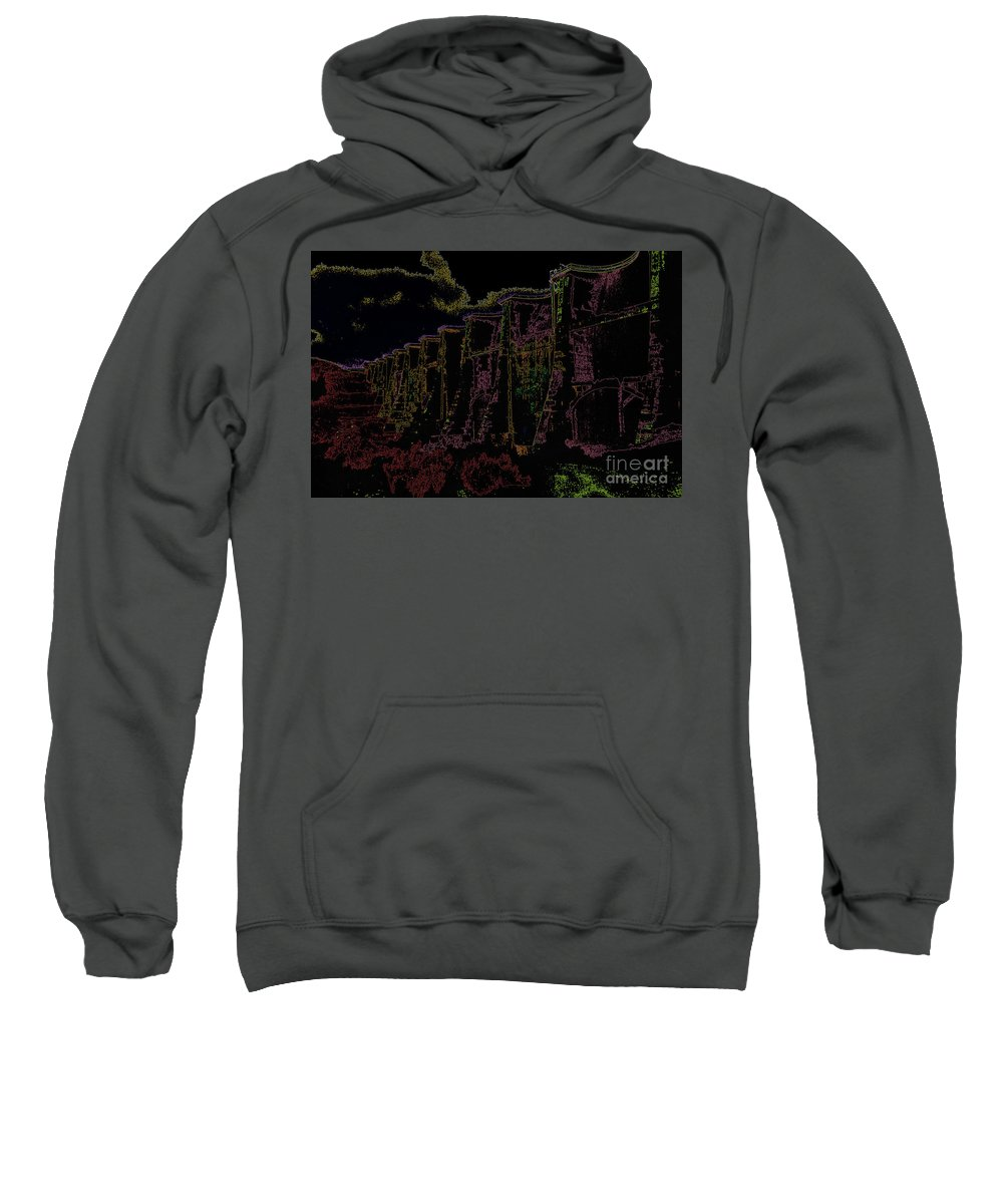 Altered Image Sweatshirt featuring the photograph Sutherland Dam Dark by Alan M Thwaites
