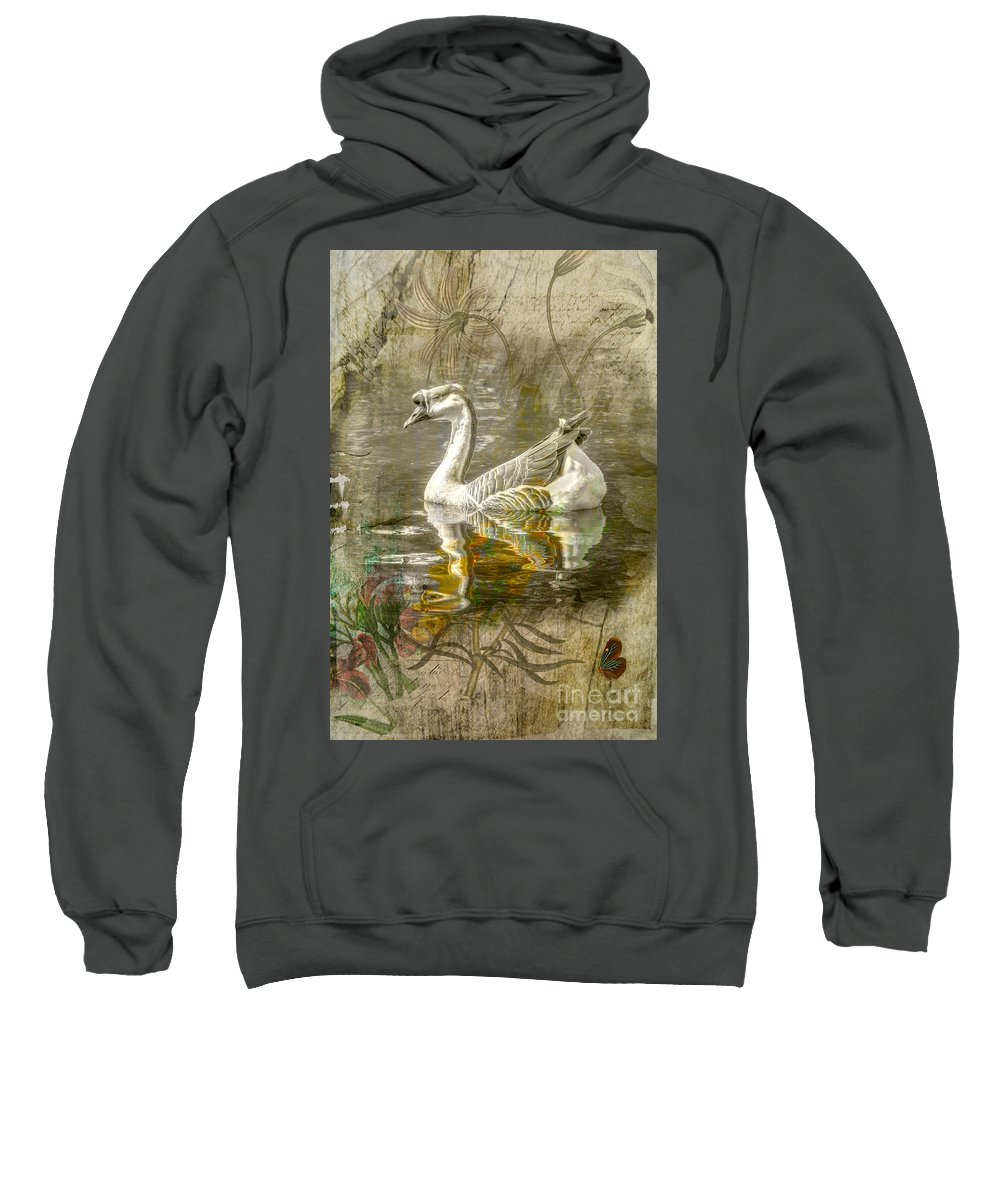 Bird Sweatshirt featuring the photograph Swan by Larry White