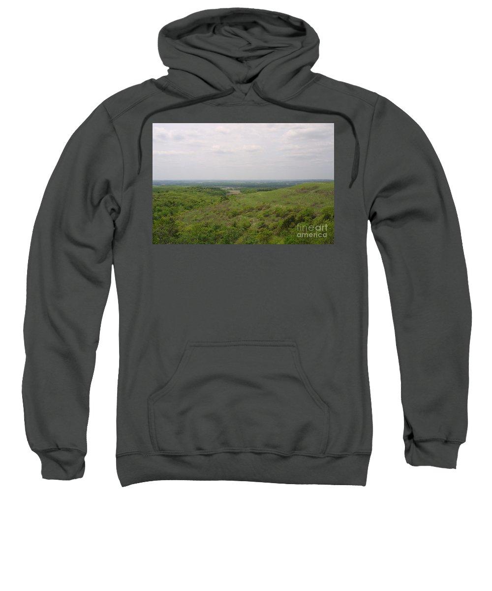 Highland Productions Llc Sweatshirt featuring the photograph Sweeping Vista II by Darren Dwayne Frazier