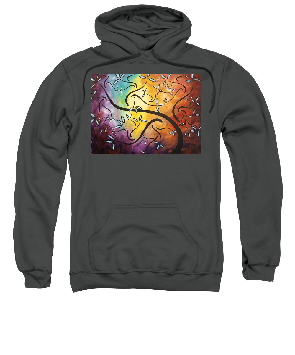 Abstract Sweatshirt featuring the painting Sweet Blossom By Madart by Megan Duncanson