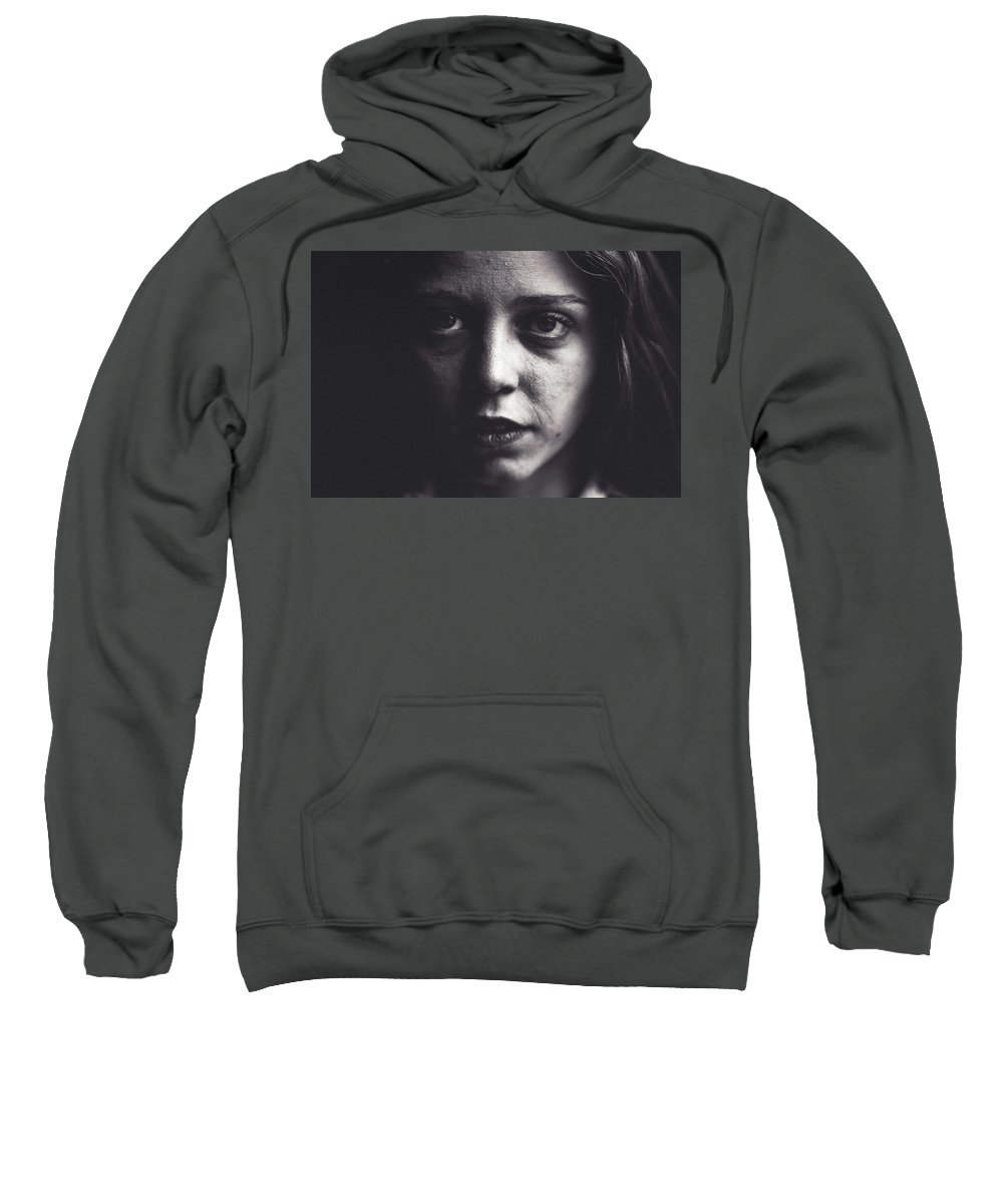 Portrait Sweatshirt featuring the photograph Sweet Darkness. by Lincon Vidal