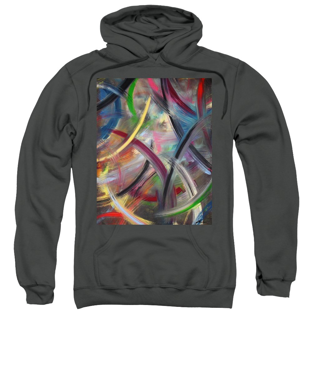 Acrylic Sweatshirt featuring the painting Swish by Todd Hoover