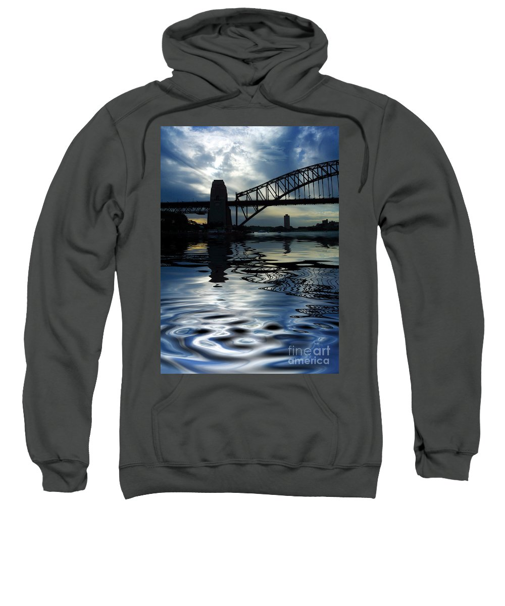 Sydney Harbour Australia Bridge Reflection Sweatshirt featuring the photograph Sydney Harbour Bridge Reflection by Sheila Smart Fine Art Photography