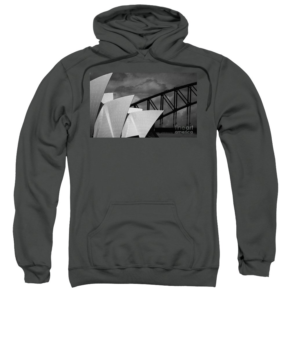Sydney Opera House Sweatshirt featuring the photograph Sydney Opera House With Harbour Bridge by Sheila Smart Fine Art Photography