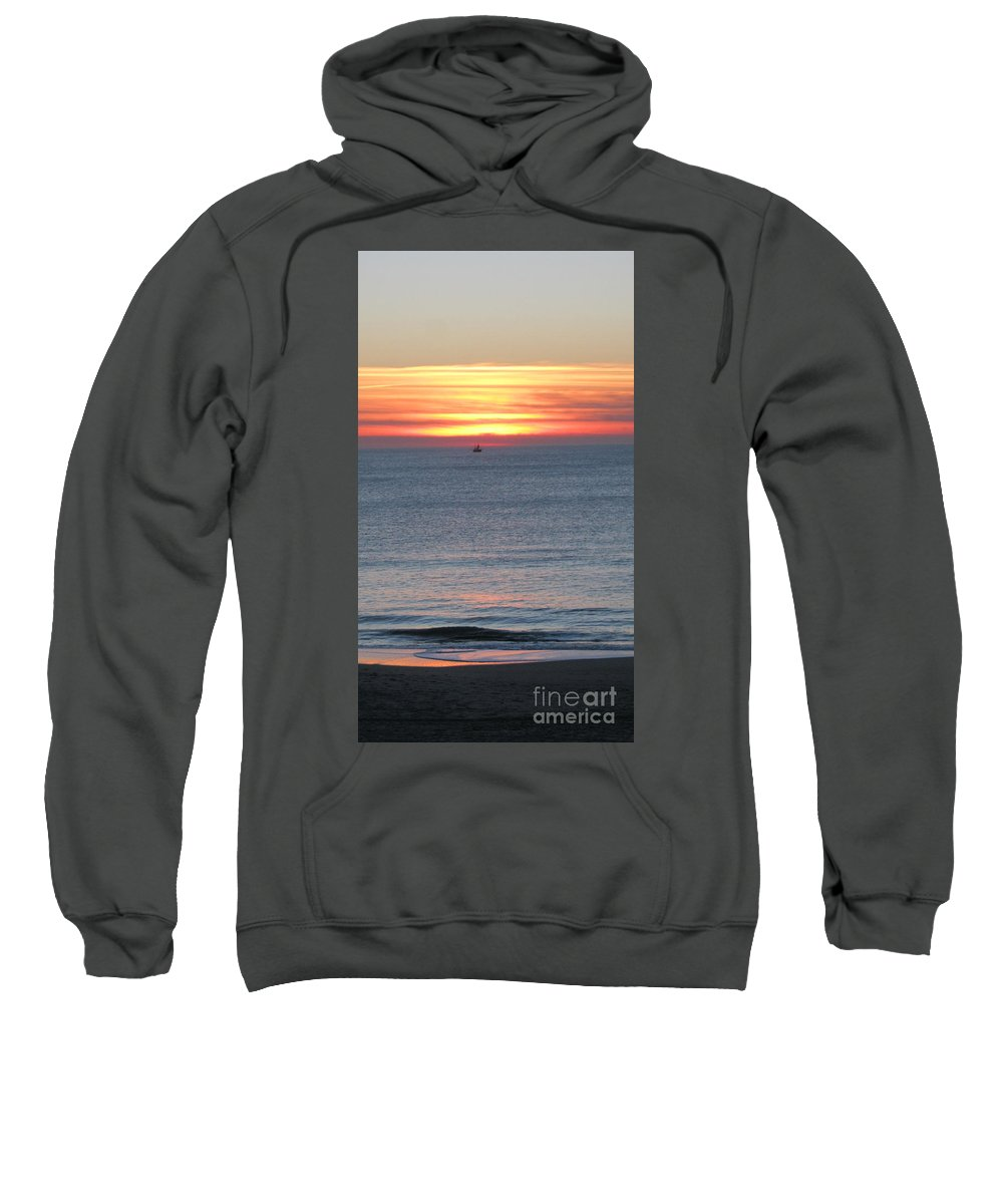Sylt Sunset Sweatshirt featuring the photograph Sylt Sunset 5 by Heidi Sieber