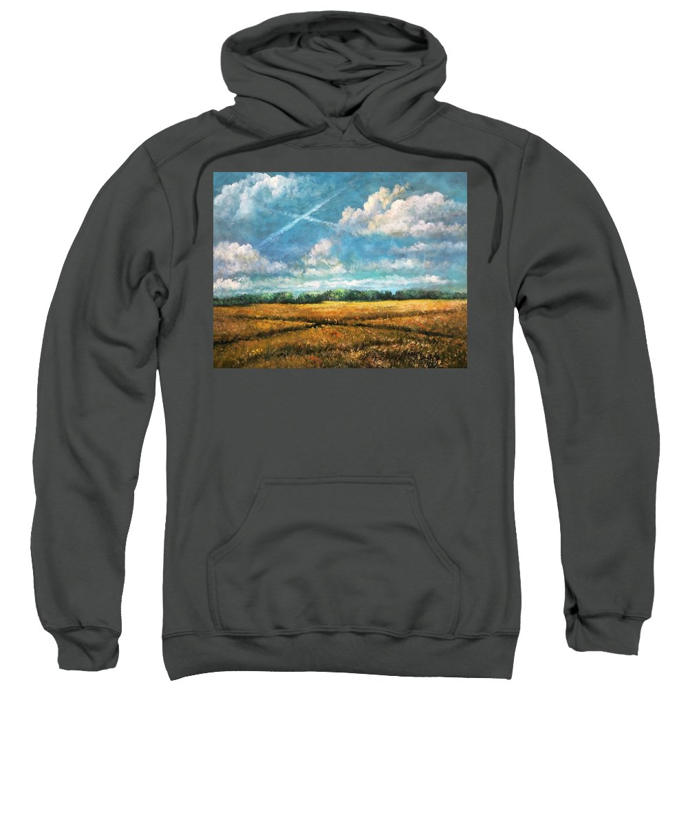 Landscape Sweatshirt featuring the painting Symbols Of Hope And Eternity by Randy Burns