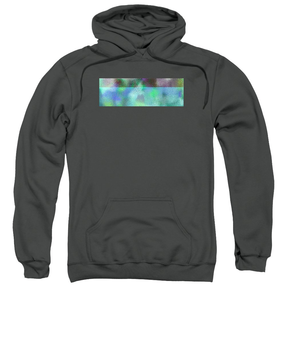 Abstract Sweatshirt featuring the digital art T.1.1477.93.3x1.5120x1706 by Gareth Lewis