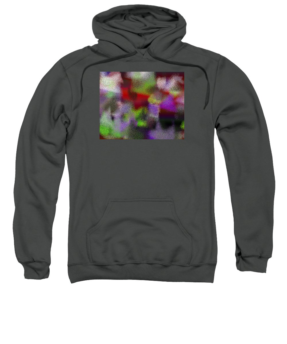 Abstract Sweatshirt featuring the digital art T.1.1485.93.5x4.5120x4096 by Gareth Lewis