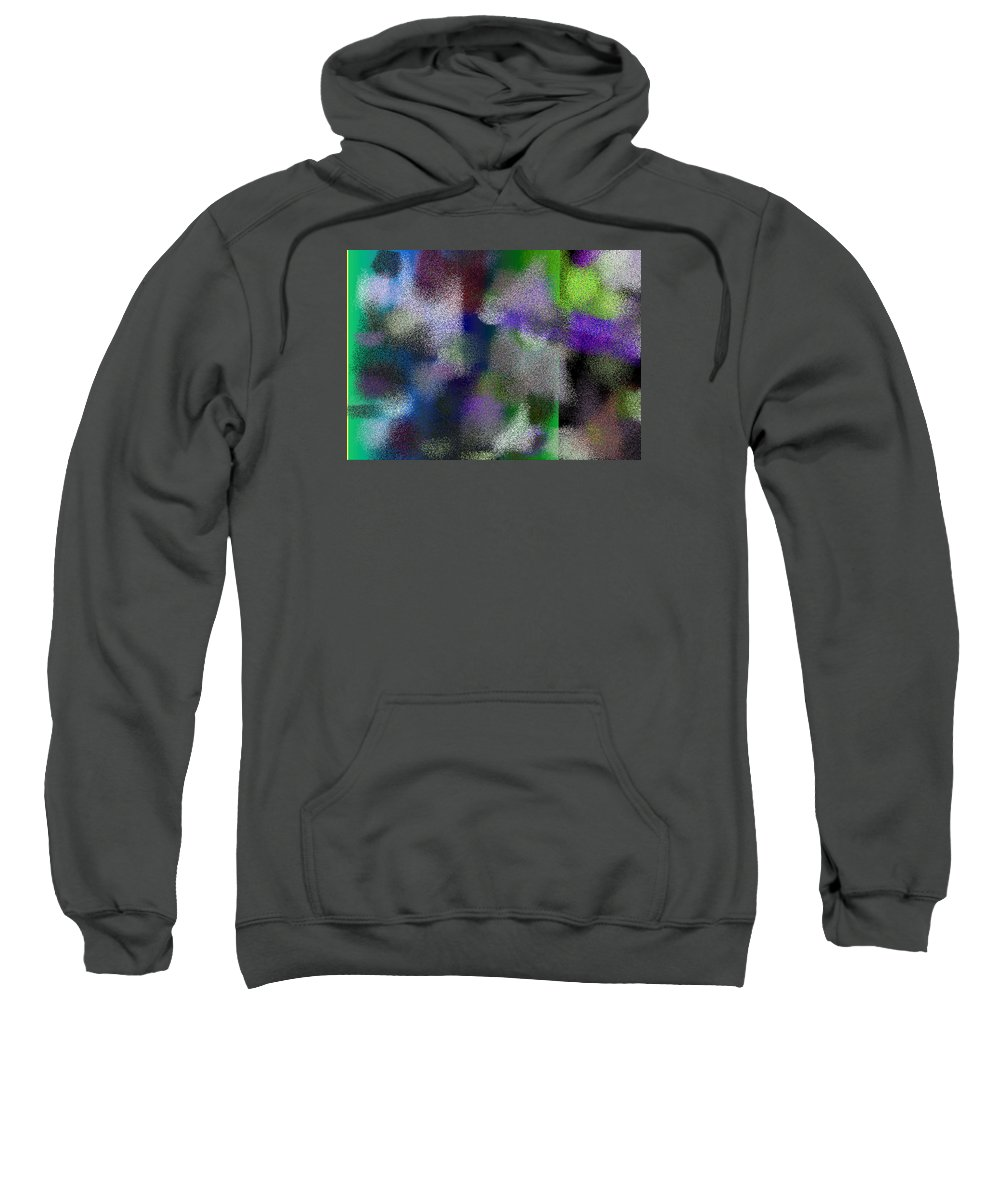 Abstract Sweatshirt featuring the digital art T.1.1487.93.7x5.5120x3657 by Gareth Lewis