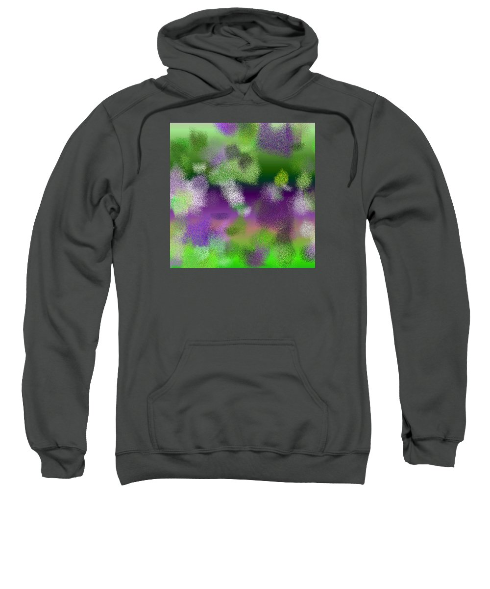 Abstract Sweatshirt featuring the digital art T.1.1489.94.1x1.5120x5120 by Gareth Lewis