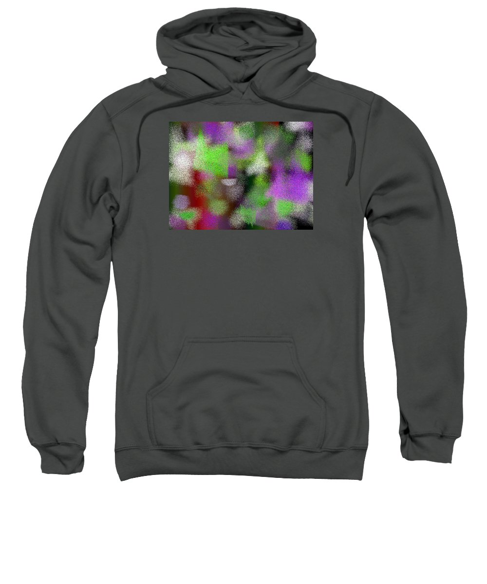 Abstract Sweatshirt featuring the digital art T.1.1497.94.4x3.5120x3840 by Gareth Lewis