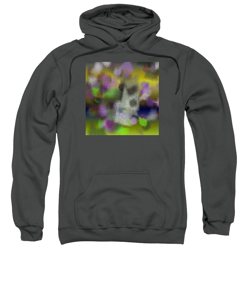 Abstract Sweatshirt featuring the digital art T.1.1505.95.1x1.5120x5120 by Gareth Lewis