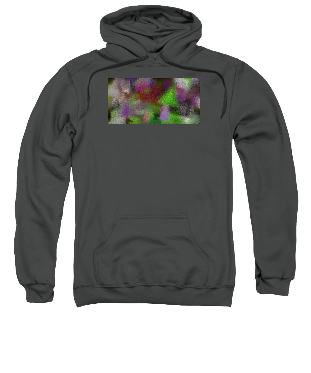 Abstract Sweatshirt featuring the digital art T.1.1507.95.2x1.5120x2560 by Gareth Lewis