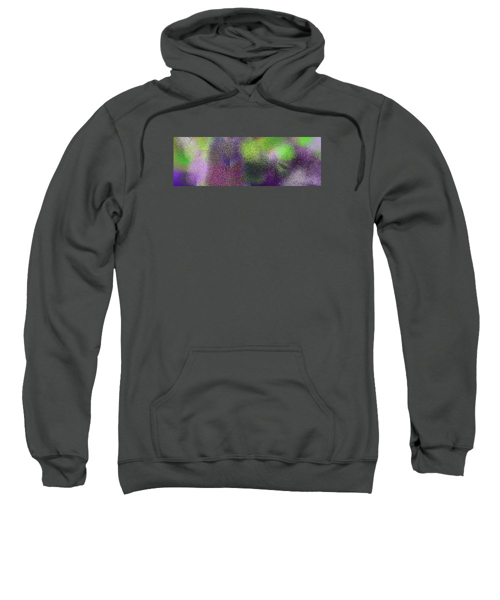 Abstract Sweatshirt featuring the digital art T.1.1525.96.3x1.5120x1706 by Gareth Lewis