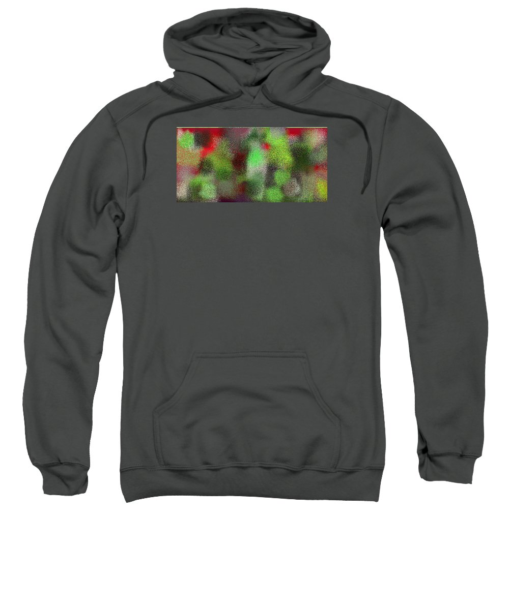 Abstract Sweatshirt featuring the digital art T.1.1555.98.2x1.5120x2560 by Gareth Lewis