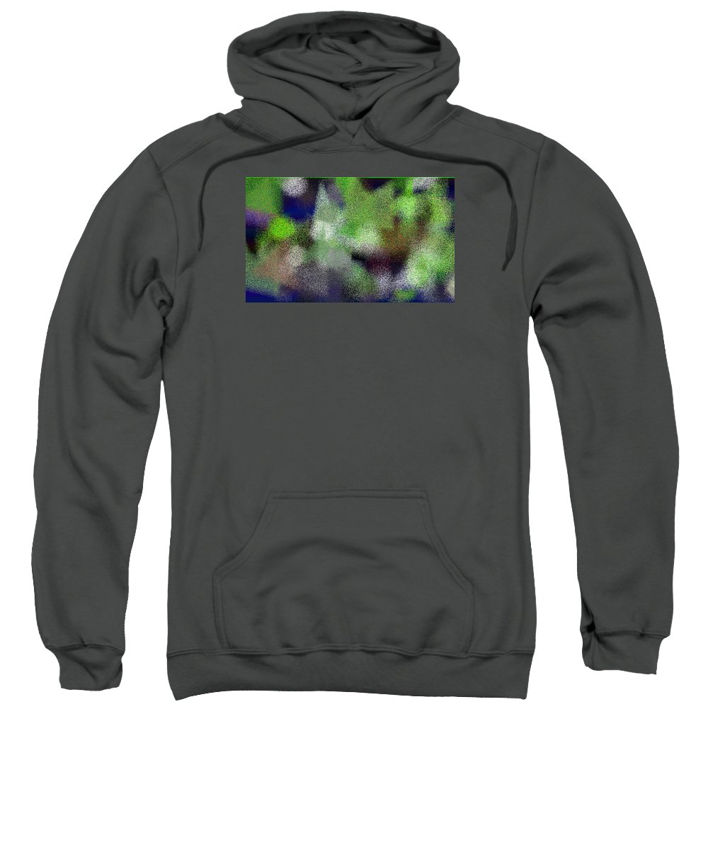 Abstract Sweatshirt featuring the digital art T.1.1563.98.5x3.5120x3072 by Gareth Lewis