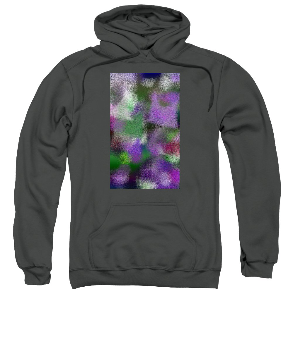 Abstract Sweatshirt featuring the digital art T.1.1578.99.3x5.3072x5120 by Gareth Lewis