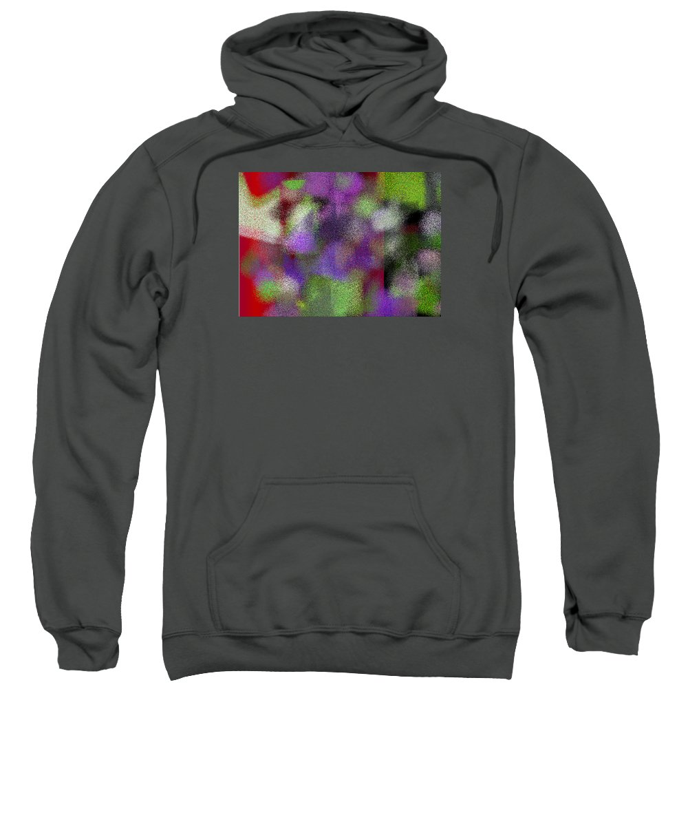 Abstract Sweatshirt featuring the digital art T.1.2015.126.7x5.5120x3657 by Gareth Lewis