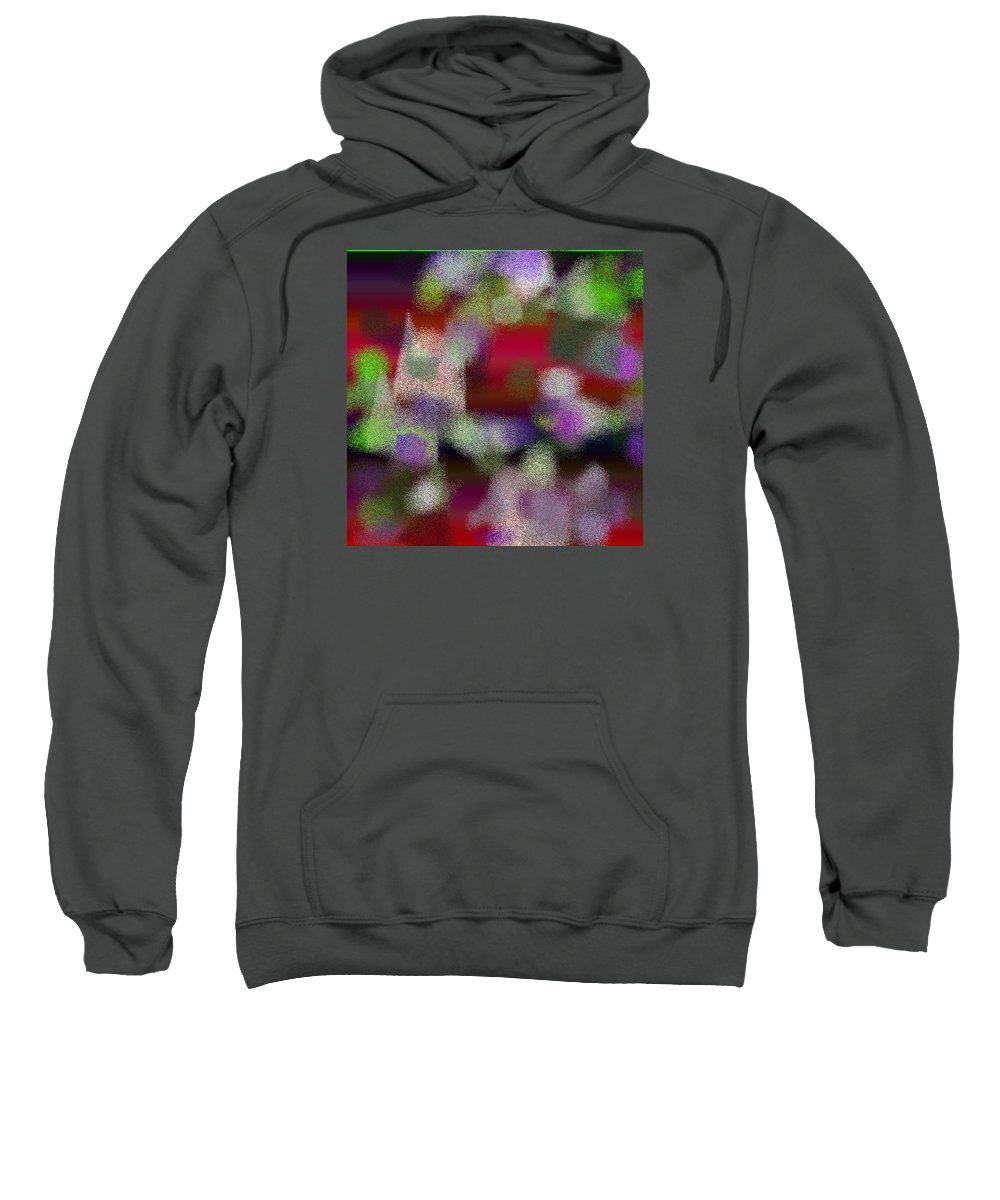 Abstract Sweatshirt featuring the digital art T.1.2017.127.1x1.5120x5120 by Gareth Lewis