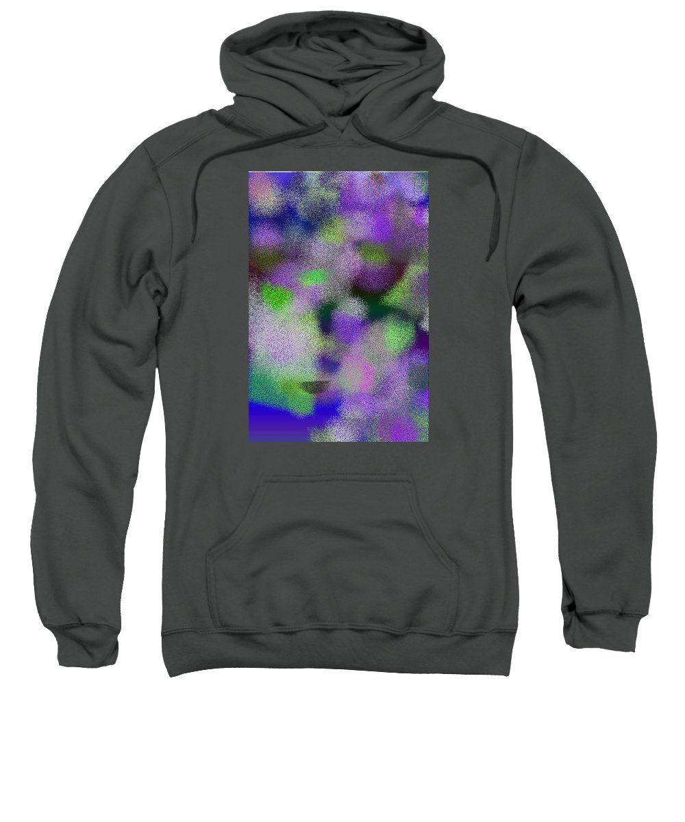 Abstract Sweatshirt featuring the digital art T.1.2022.127.2x3.3413x5120 by Gareth Lewis