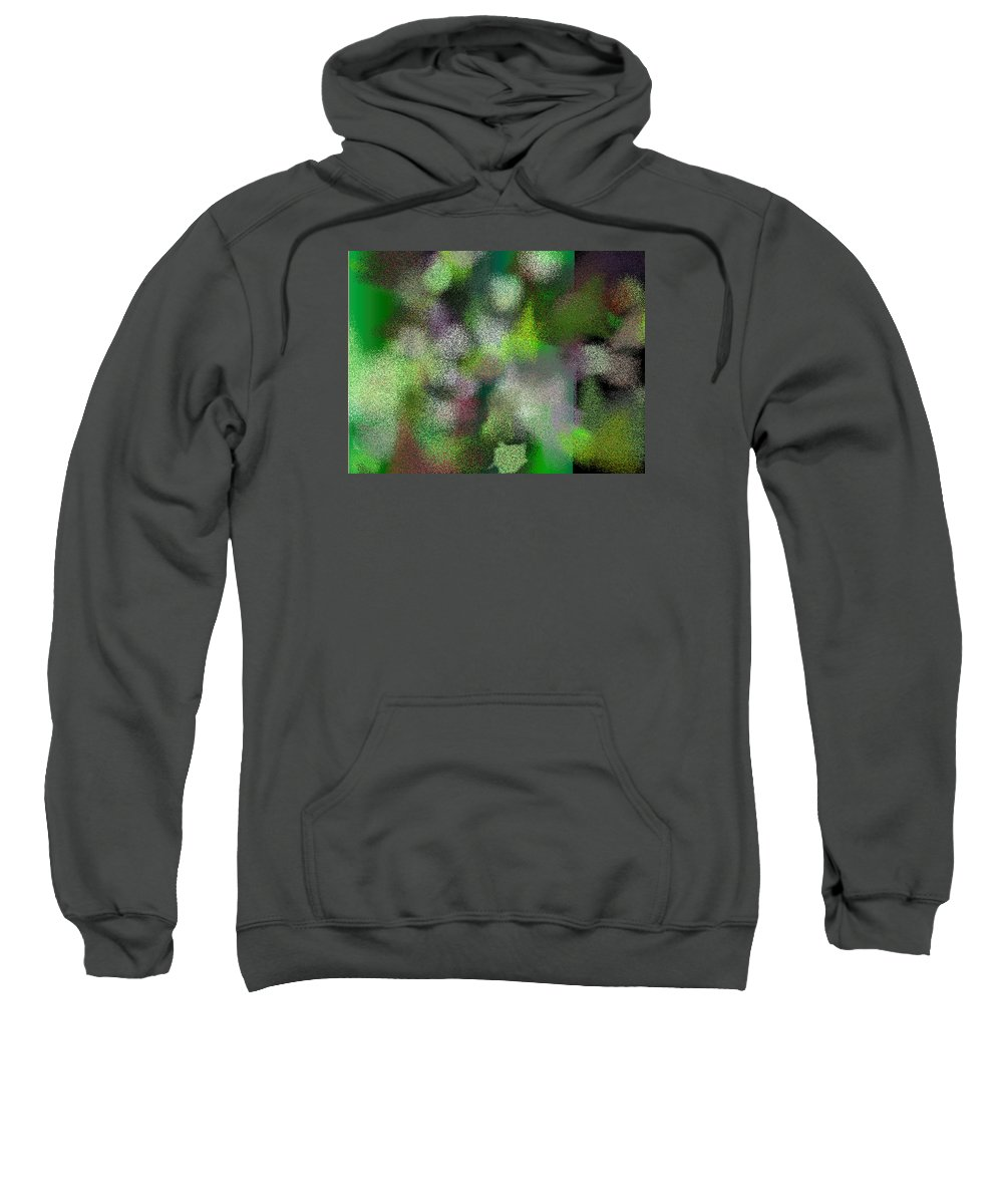 Abstract Sweatshirt featuring the digital art T.1.425.27.4x3.5120x3840 by Gareth Lewis