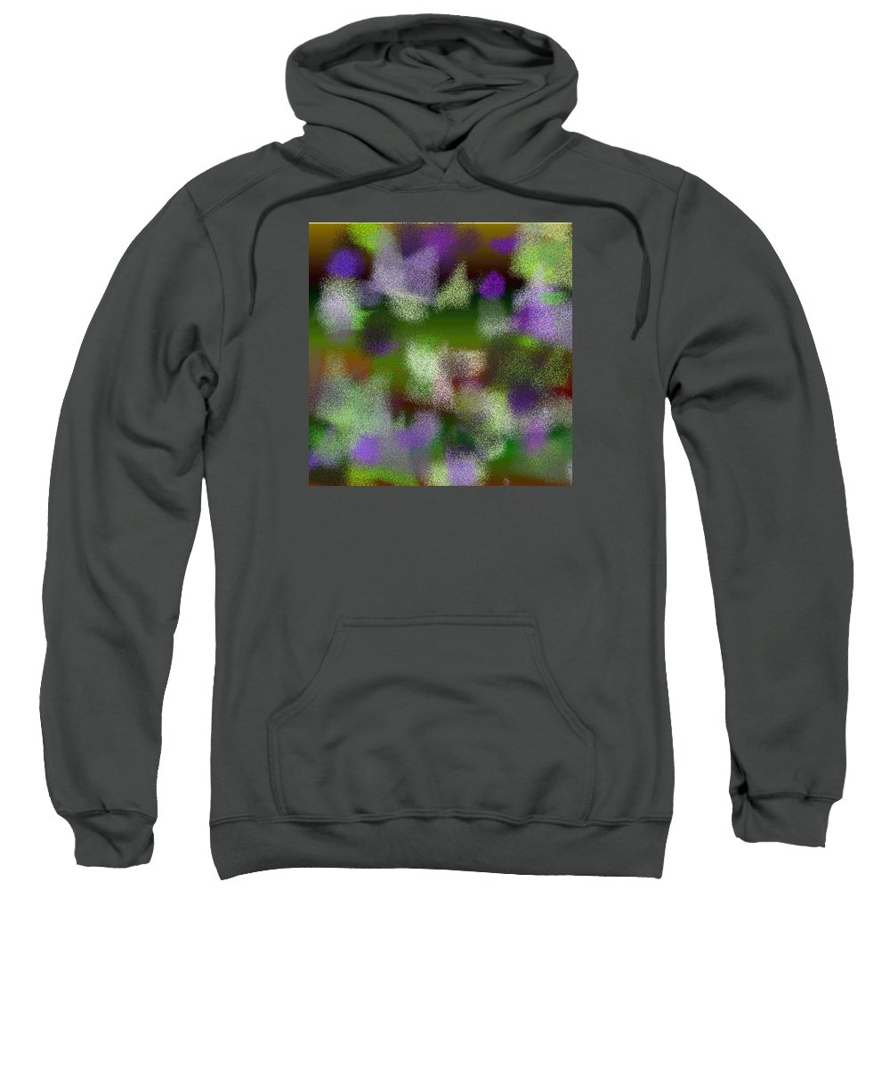 Abstract Sweatshirt featuring the digital art T.1.433.28.1x1.5120x5120 by Gareth Lewis