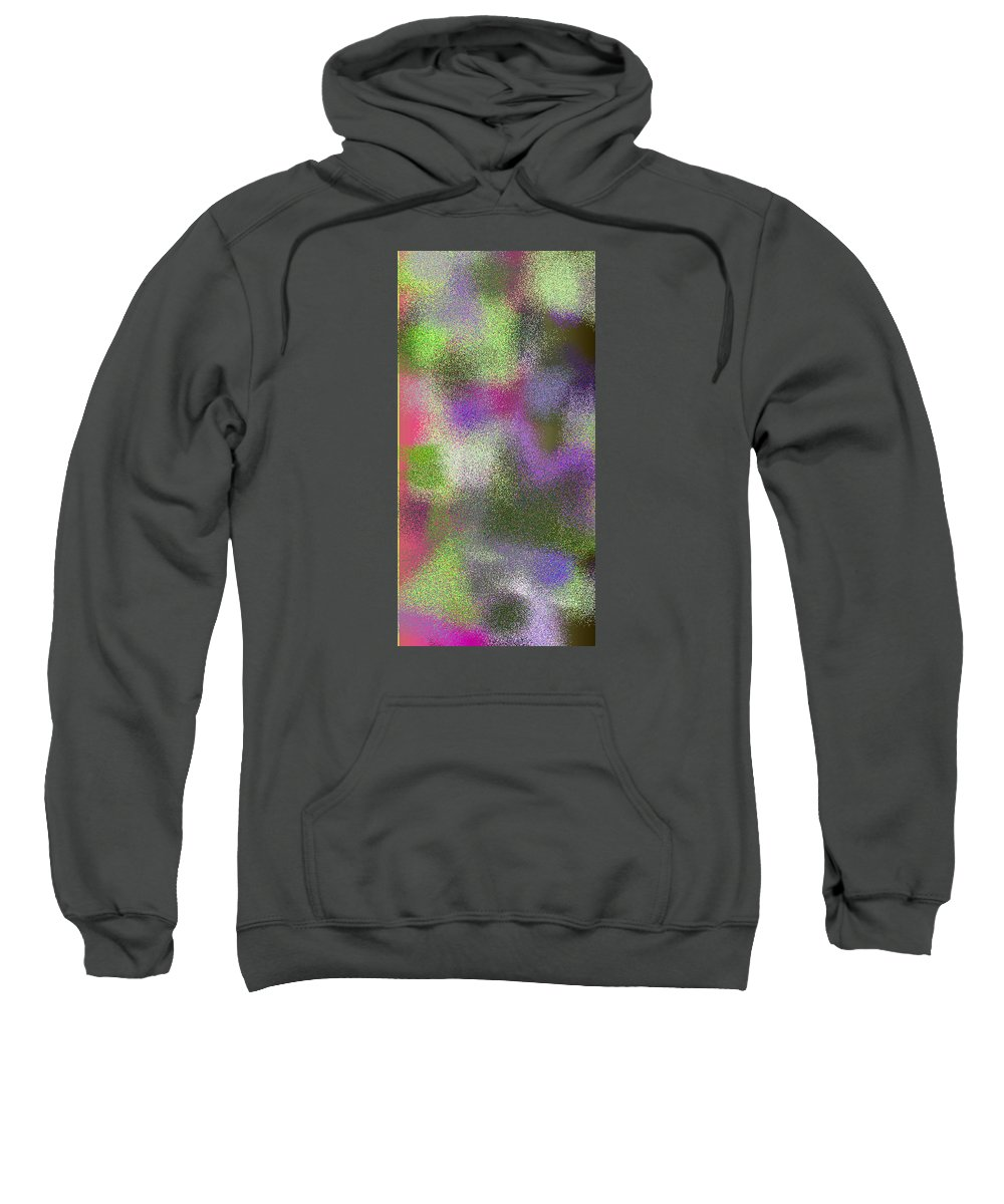 Abstract Sweatshirt featuring the digital art T.1.434.28.1x2.2560x5120 by Gareth Lewis