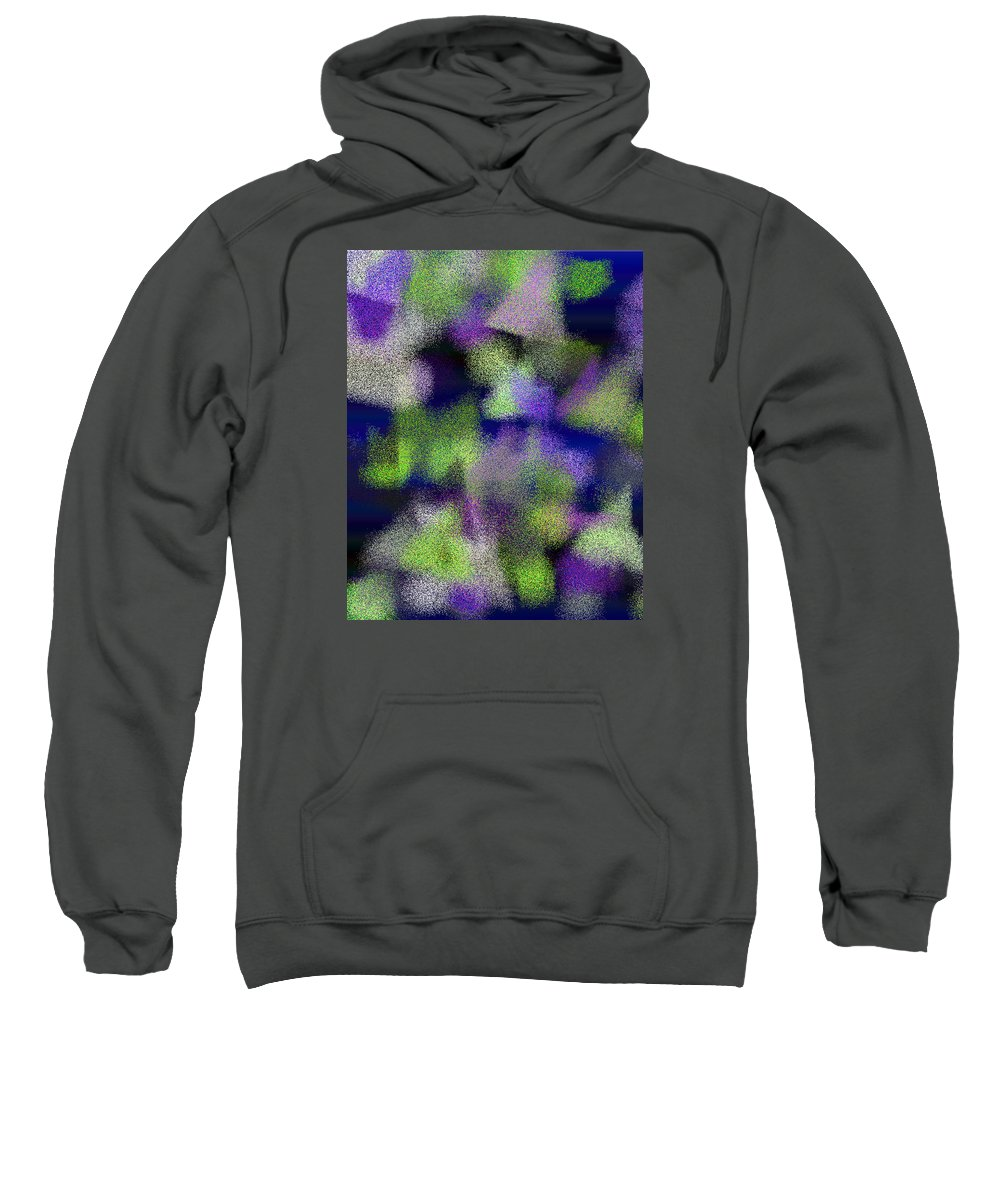 Abstract Sweatshirt featuring the digital art T.1.444.28.4x5.4096x5120 by Gareth Lewis