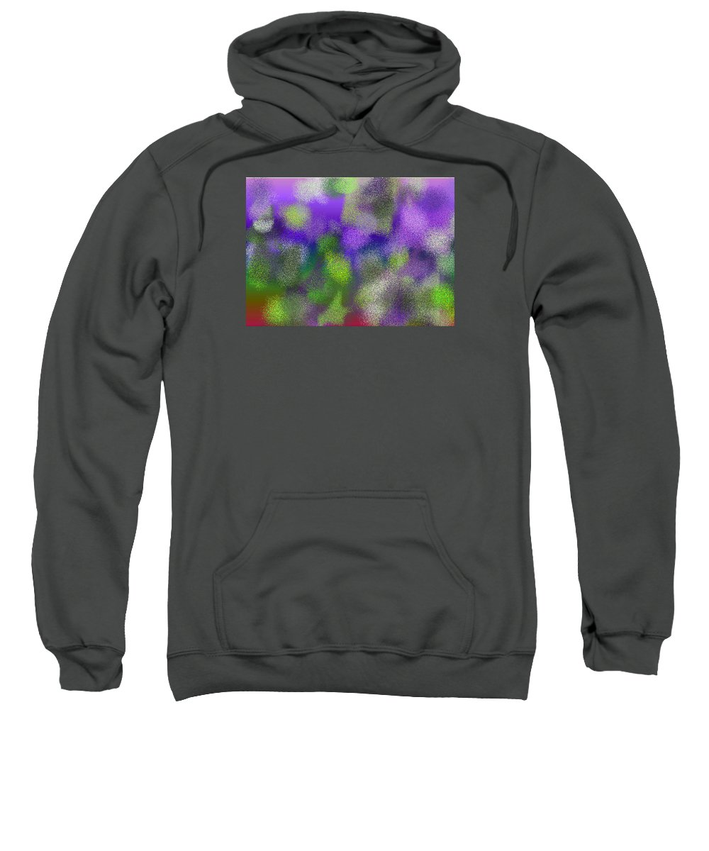 Abstract Sweatshirt featuring the digital art T.1.447.28.7x5.5120x3657 by Gareth Lewis