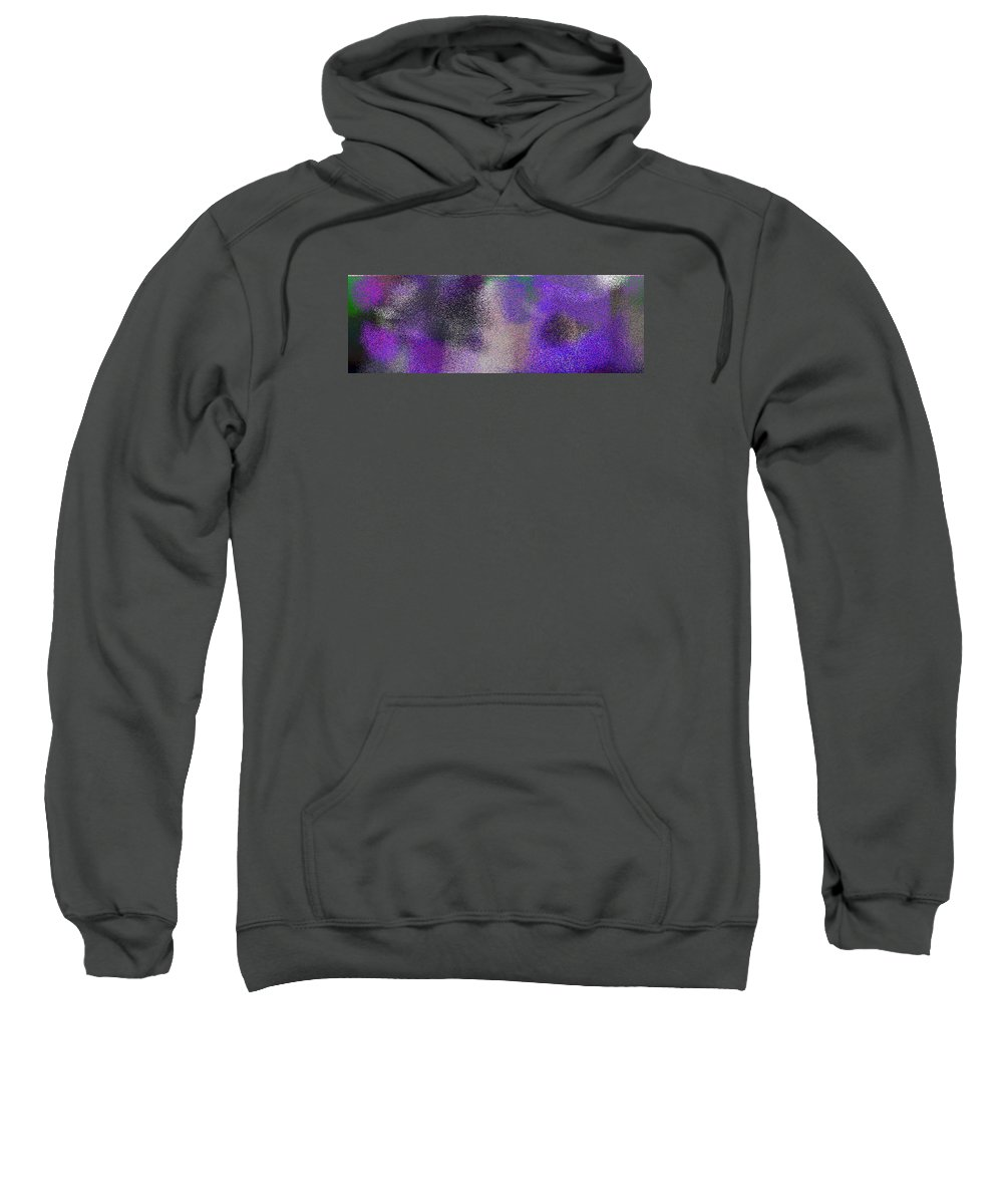 Abstract Sweatshirt featuring the digital art T.1.725.46.3x1.5120x1706 by Gareth Lewis