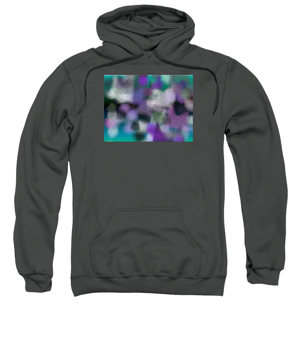 Abstract Sweatshirt featuring the digital art T.1.825.52.4x3.5120x3840 by Gareth Lewis