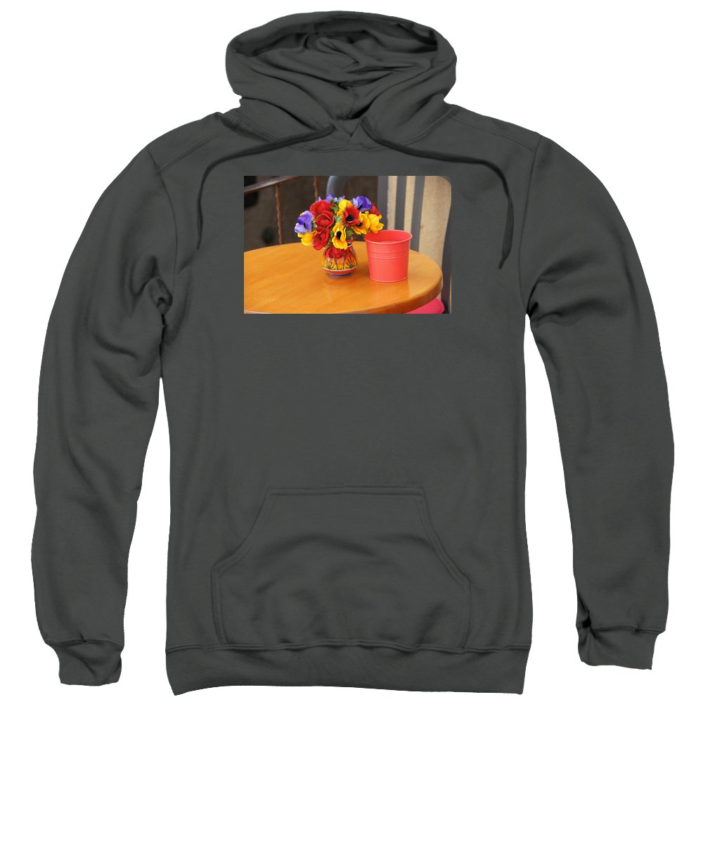 Flowers Sweatshirt featuring the photograph Table Flowers by Ron Koivisto