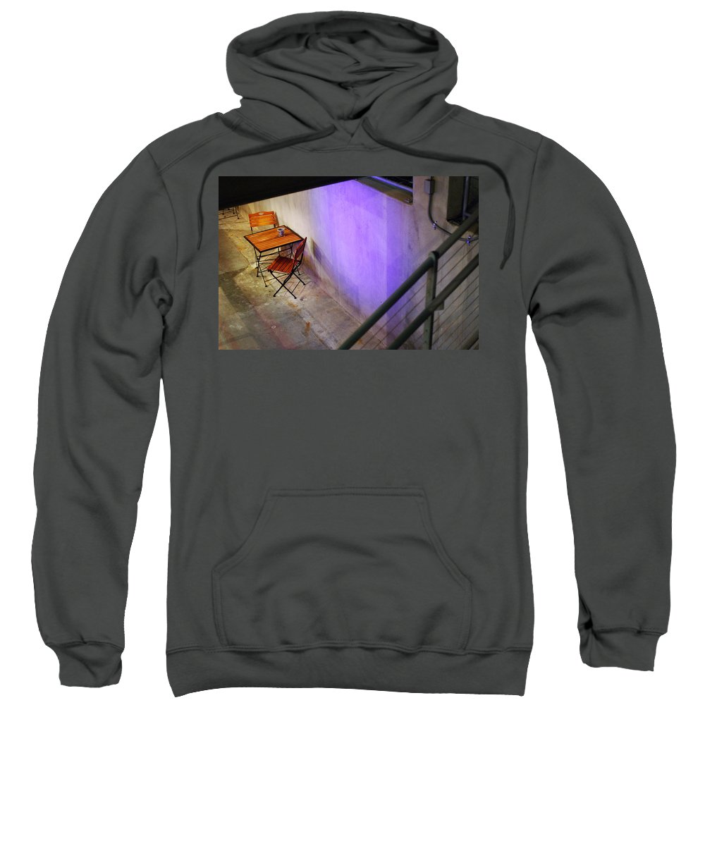 Cafe Sweatshirt featuring the photograph Table For Two by Jill Reger