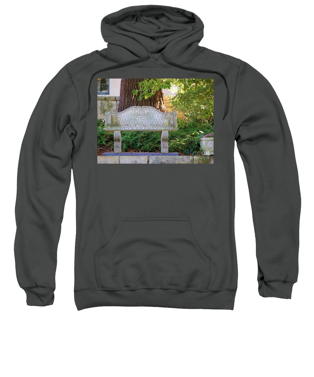 Bench Sweatshirt featuring the photograph Take A Break by Debbi Granruth