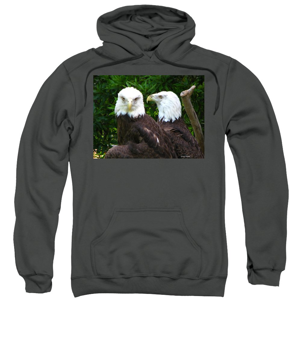 Sweatshirt featuring the photograph Talking To Me by Greg Patzer