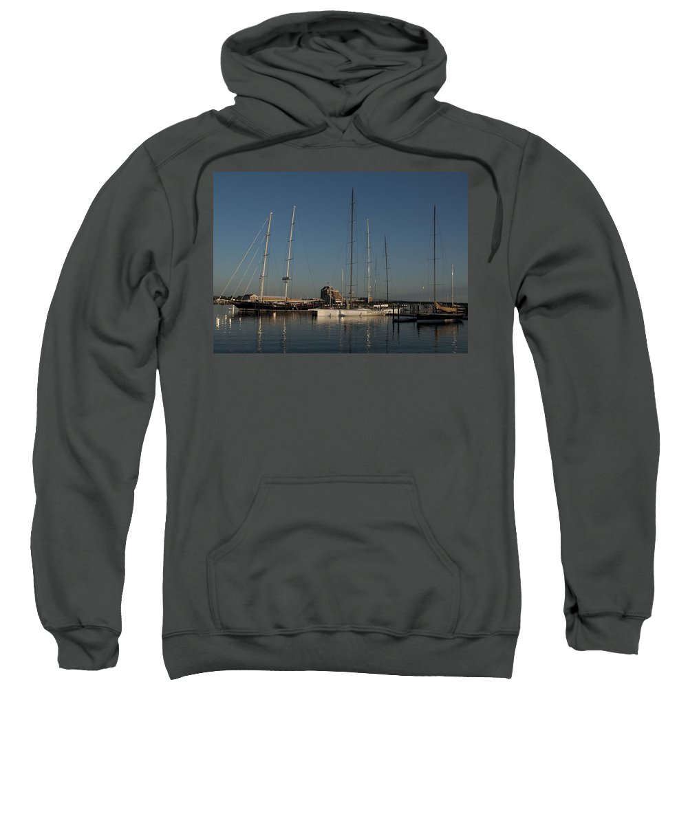 Schooner Sweatshirt featuring the photograph Tall Boats In The Morning by Steven Natanson