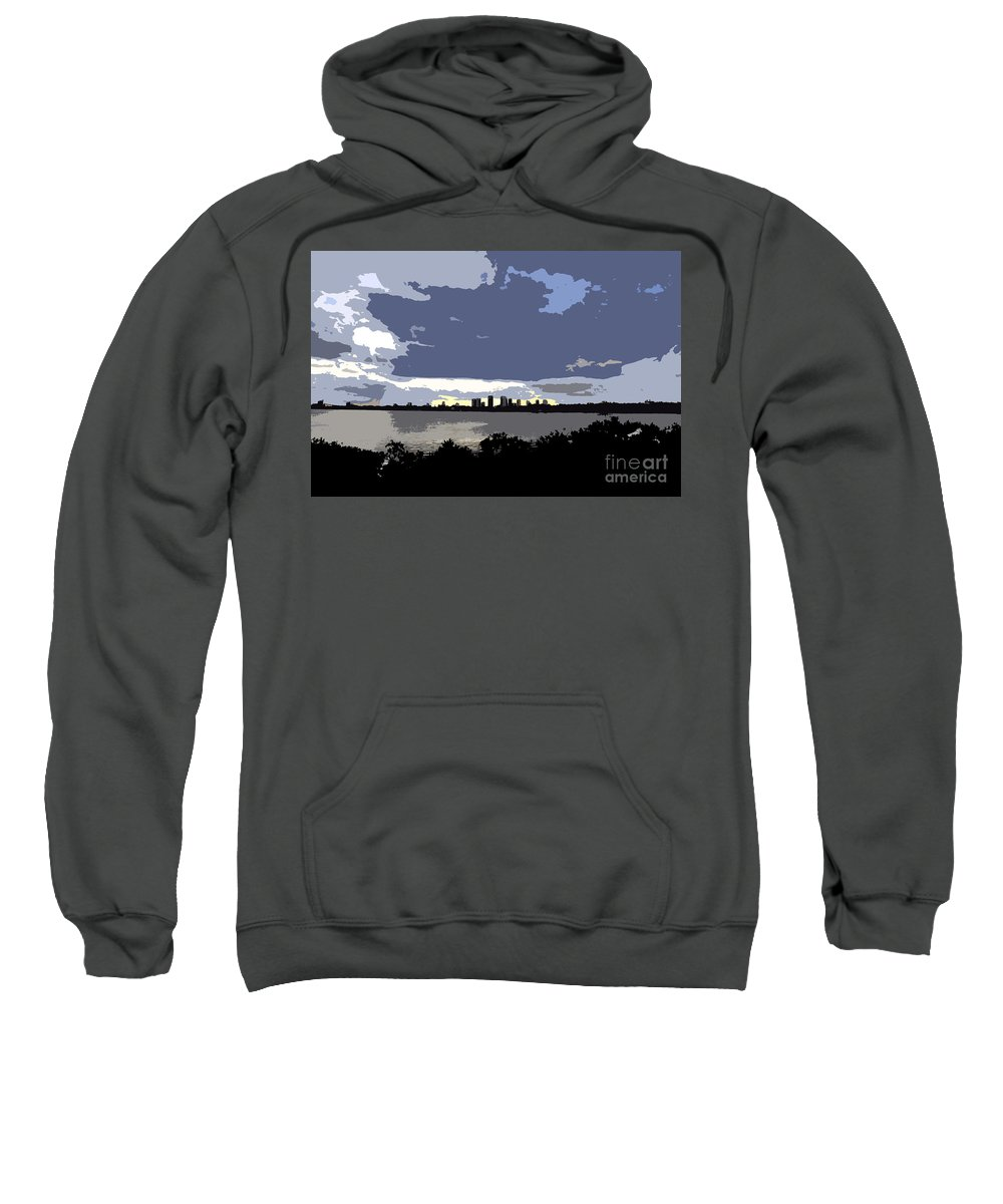 Tampa Bay Florida Sweatshirt featuring the painting Tampa Bay Work Number Three by David Lee Thompson