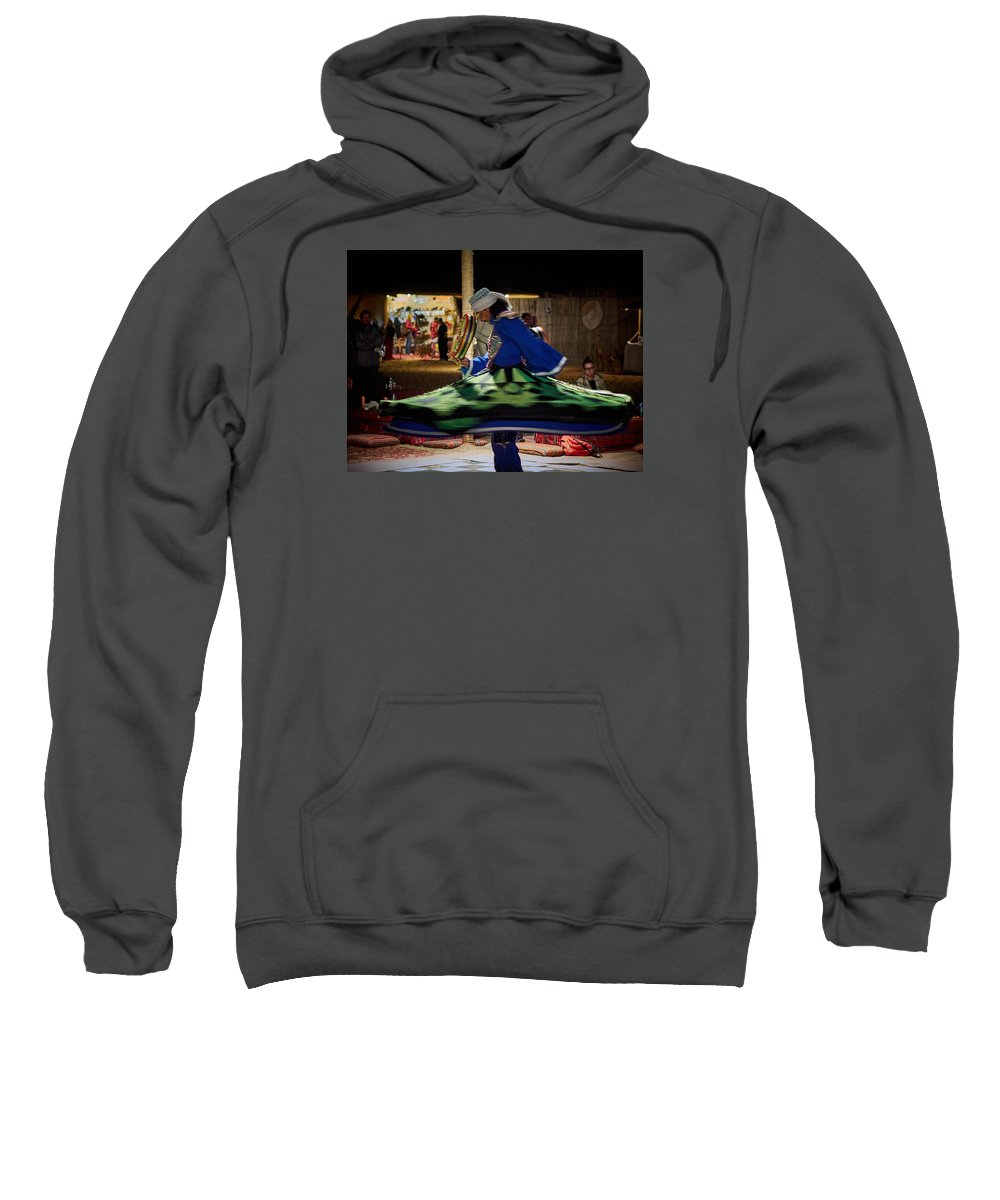 Al Maha Sweatshirt featuring the photograph Tanoura Dancer by Jouko Lehto