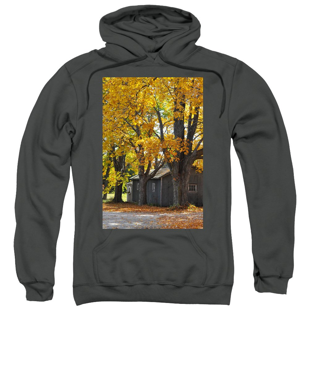 Autumn Sweatshirt featuring the photograph Tar Paper Shack by Tim Nyberg