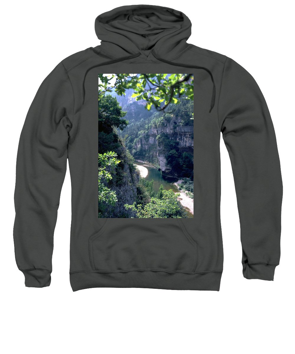 France Sweatshirt featuring the photograph Tarn by Flavia Westerwelle