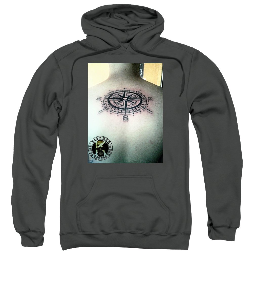 Sweatshirt featuring the photograph Tattoo by Kim Estanil