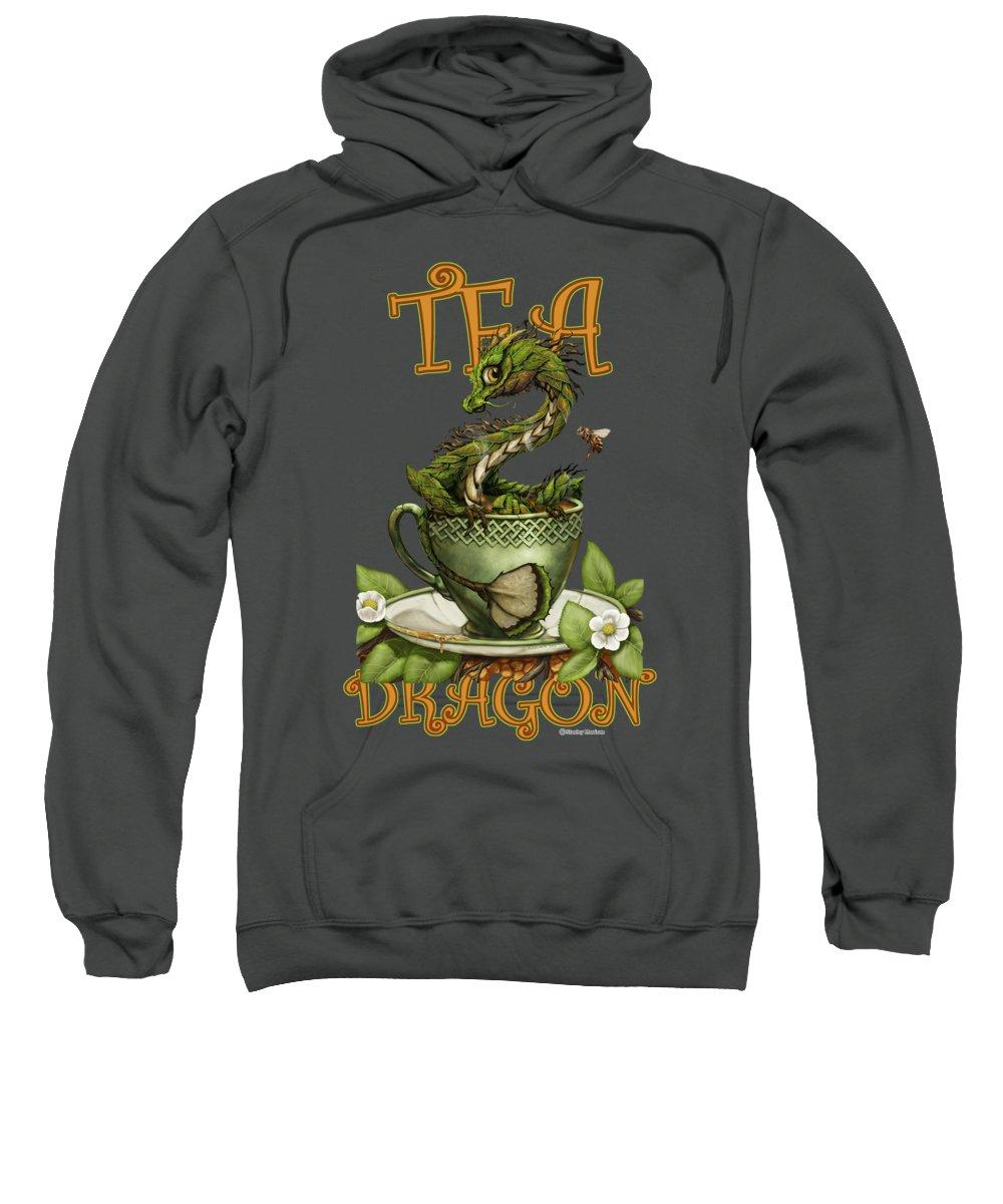 Tea Sweatshirt featuring the digital art Tea Dragon by Stanley Morrison