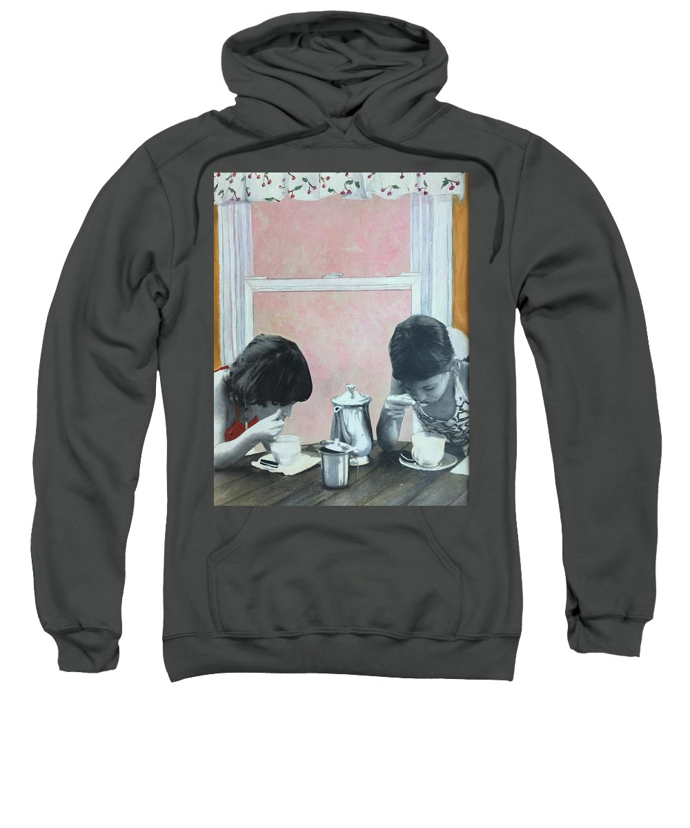 Tea Party Sweatshirt featuring the painting Tea Party by Leah Tomaino