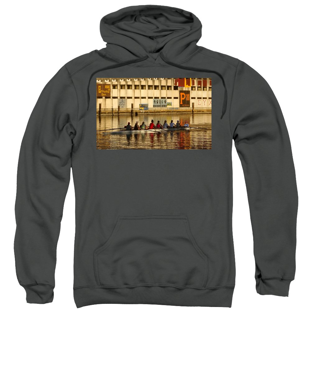 Woman Sweatshirt featuring the photograph Team Work by David Lee Thompson
