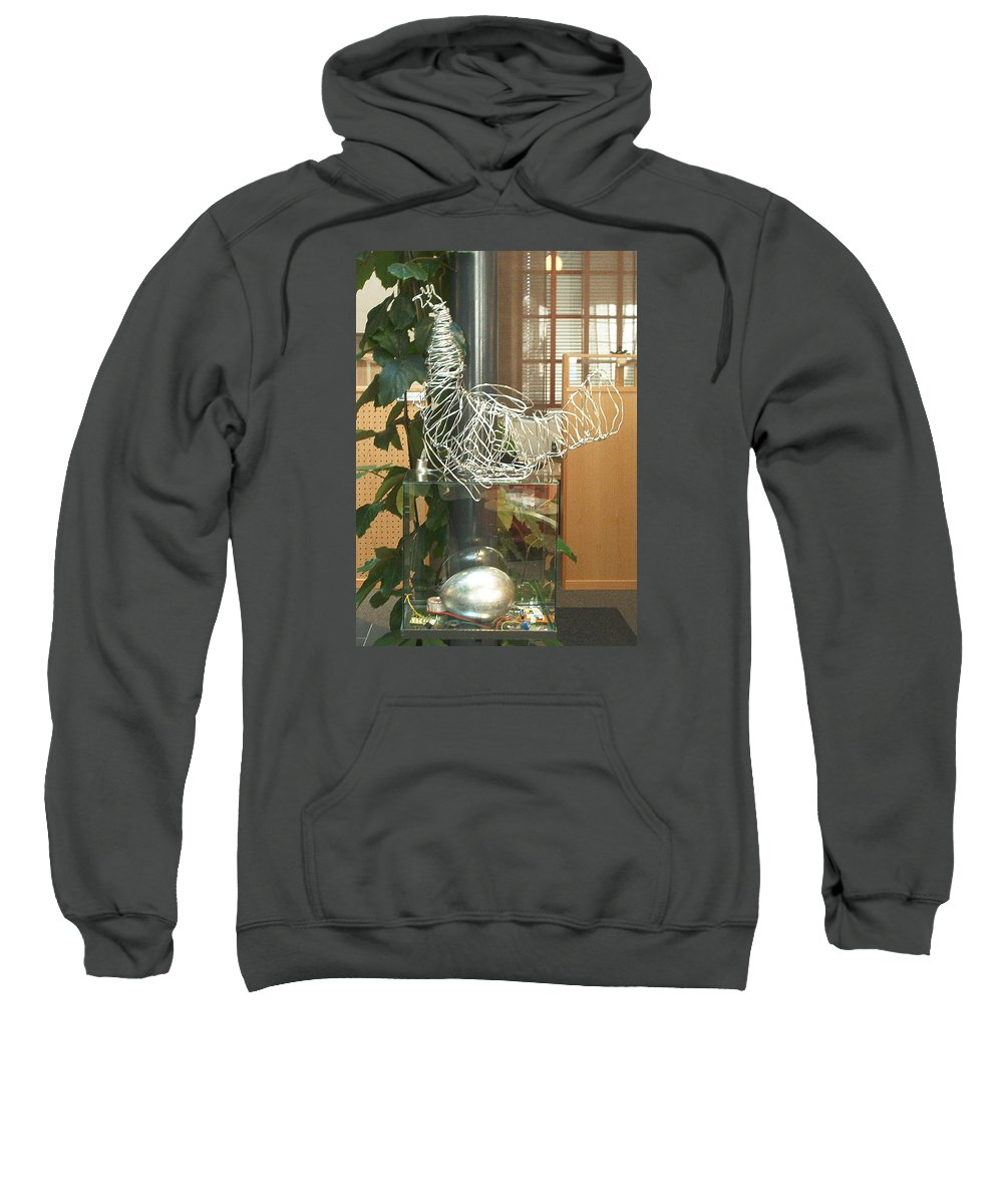 Sweatshirt featuring the sculpture Techno Hen by Jarle Rosseland